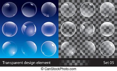 Burbujas transparentes