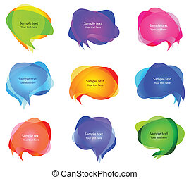 Burbujas transparentes para hablar