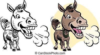 burro, rebuzno