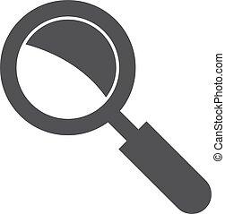 Busca icono en negro en un fondo blanco. Ilustración de vectores