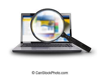 Buscando internet en computación portátil