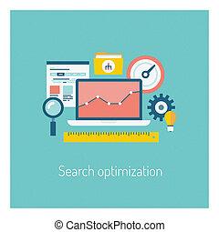 Buscar el concepto de ilustración de optimización