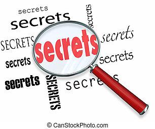 Buscar secretos. El cristal luminoso encuentra pistas