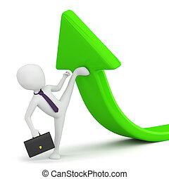 business!, -, persona, flexibilidad, pequeño, 3d