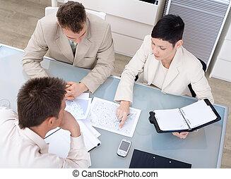 businessteam, trabajando