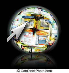 Busquen en Internet con lanza flechas