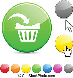 button., comprar, brillante