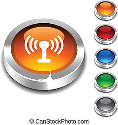 button., radio, 3d