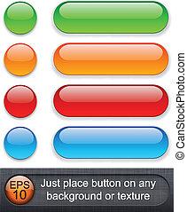 buttons., brillante, redondeado