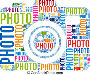 Cámara de fotos, vector