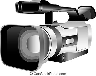 Cámara de video ilustrada