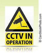 Cámara de vigilancia en señal de operación