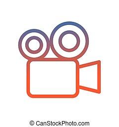 cámara, icono, vídeo, cine, imagen