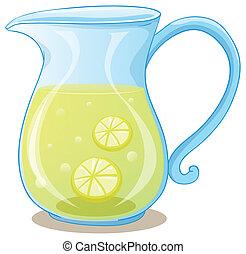 cántaro, jugo del limón