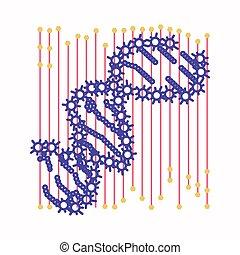 Célula de ADN abstracta