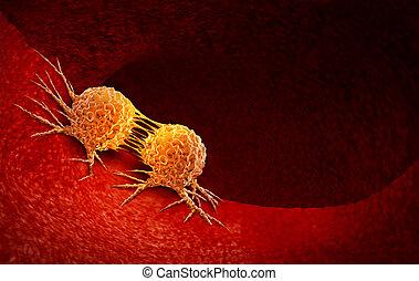 Célula de cáncer dividiendo