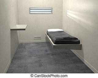 célula, moderno, prisión