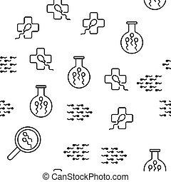 Células de esperma vectores sin costura