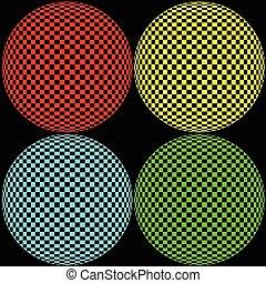 círculo, óptico, ilustración