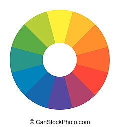 Círculo arcoíris multicolor de 12 segmentos. Paleta armónica espectral.