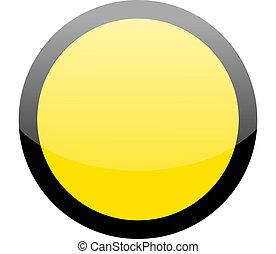 Círculo blanco señal de peligro amarillo