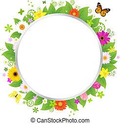 Círculo con flores