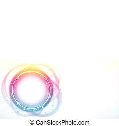 Círculo de arco iris, efecto de pincel.