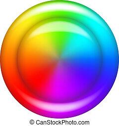 Círculo de botón del arco iris