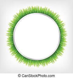 círculo, pasto o césped