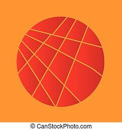 Círculo rojo cortado