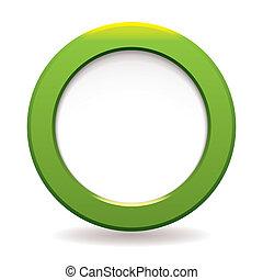 círculo, verde, icono