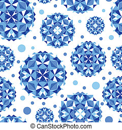Círculos abstractos azules sin fondo