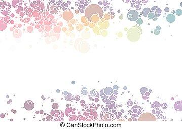 Círculos abstractos y coloridos