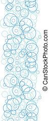 Círculos azules abstractos, círculos verticales de la frontera sin fondo