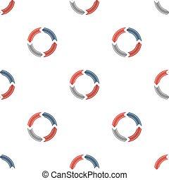 Círculos creativos con flechas. El patrón sin costura