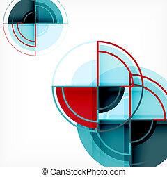 Círculos creativos fondo abstracto geométrico con efecto 3D