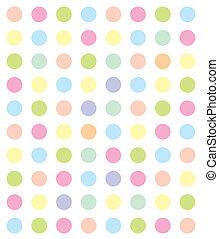 Círculos de color, telón de fondo