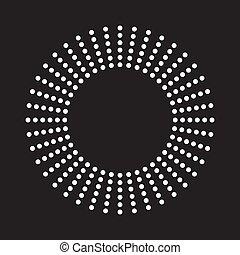 Círculos de medio dólar, patrón de punto medio
