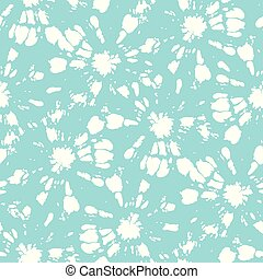 Círculos de sol shibori blanco de corbata y shibori sobre vectores acuáticos sin costura