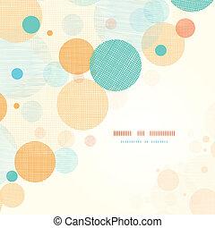 Círculos fábicos abstractos de la esquina
