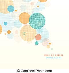 Círculos fáricos abstractos de fondo diagonal