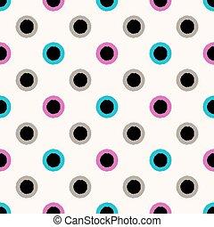 Círculos inalámbricos patrones de puntos
