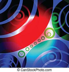Círculos resplandecientes abstractos