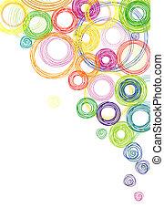 círculos, resumen, fondo coloreado