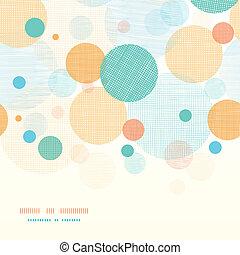 Círculos tebáricos abstractos horizontales de fondo sin marcas