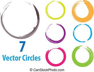 Círculos vectores