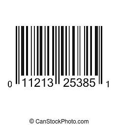 código, barra, ilustración