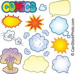cómicos, 1, elementos, colección