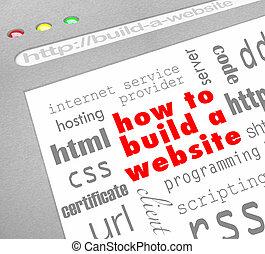 Cómo construir una página web