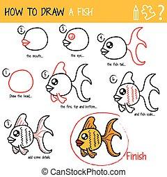 Cómo dibujar un pez